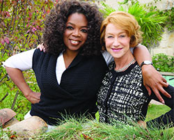 Oprah Winfrey and Helen Mirren