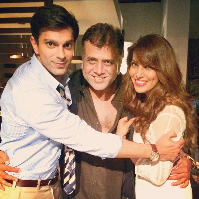 Karan Singh Grover and director Bhushan Patel with Bipasha Basu