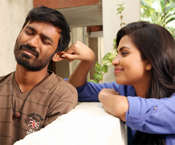 Dhanush and Amala Paul in Velaiyilla Pattadhari