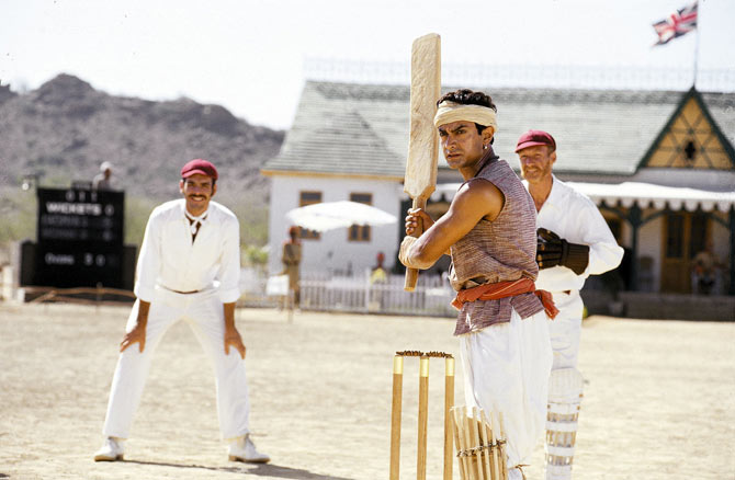 Lagaan hits the boundary from the word go.