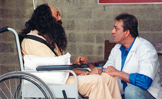 'Affection can heal' forms the core of Munnabhai MBBS.