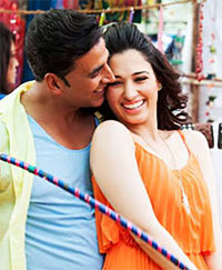 Akshay Kumar and Tamannaah in Entertainment