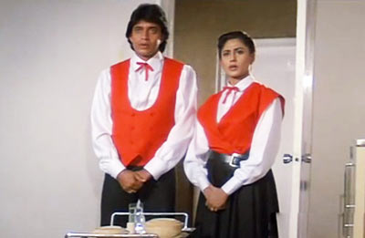 Mithun Chakraborty and Smita Patil