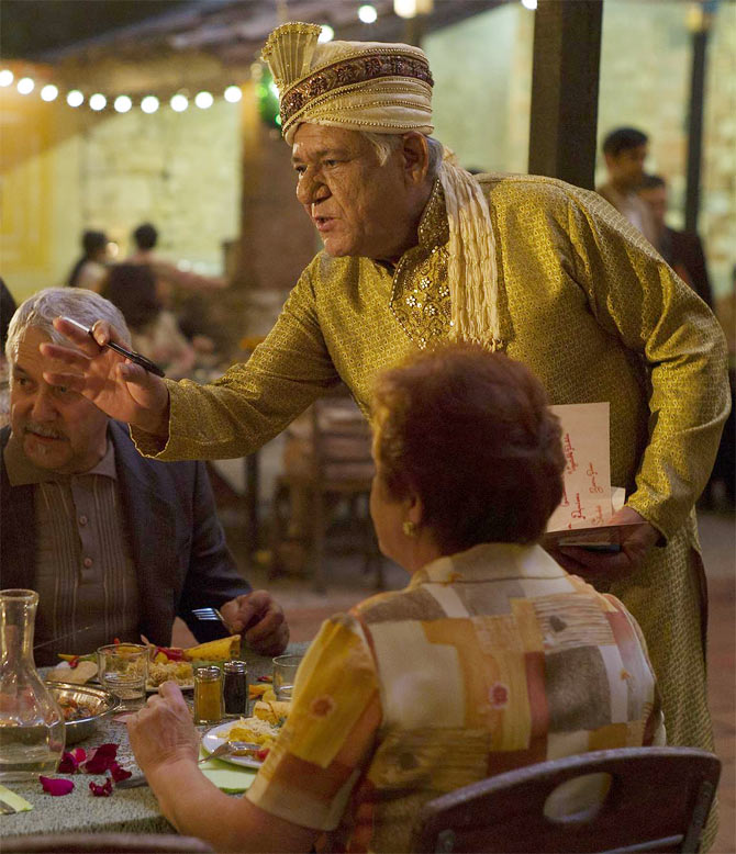 Om Puri in The Hundred Foot Journey.