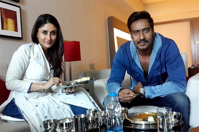 Kareena Kapoor and Ajay Devgn