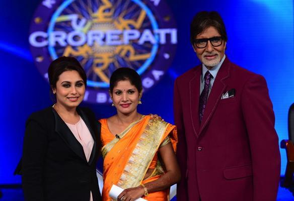 Rani Mukerji, Fatma Khatun and Amitabh Bachchan