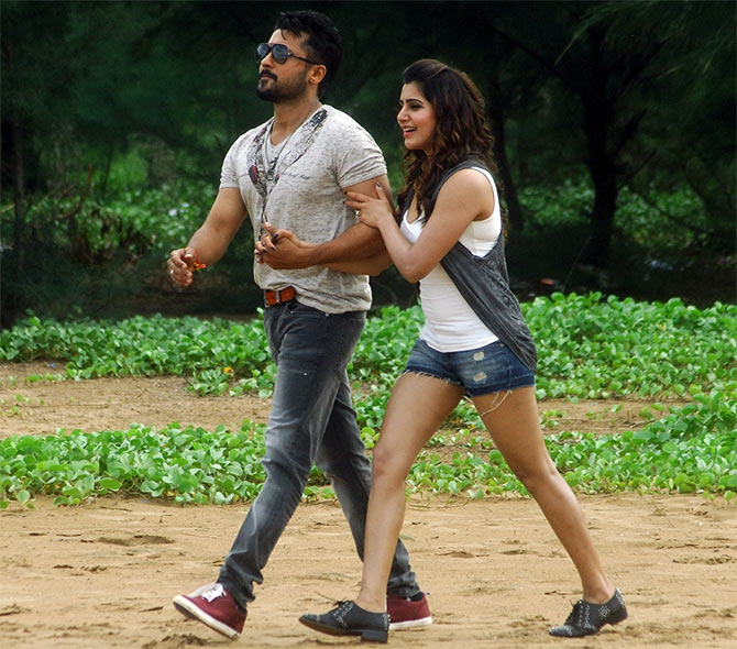 Suriya and Samantha in Anjaan