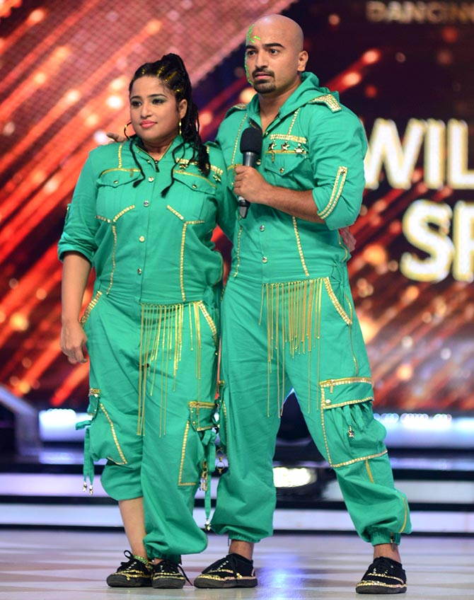 Malishka Mendonsa and choreographer Dibankar on Jhalak Dikhhla Jaa