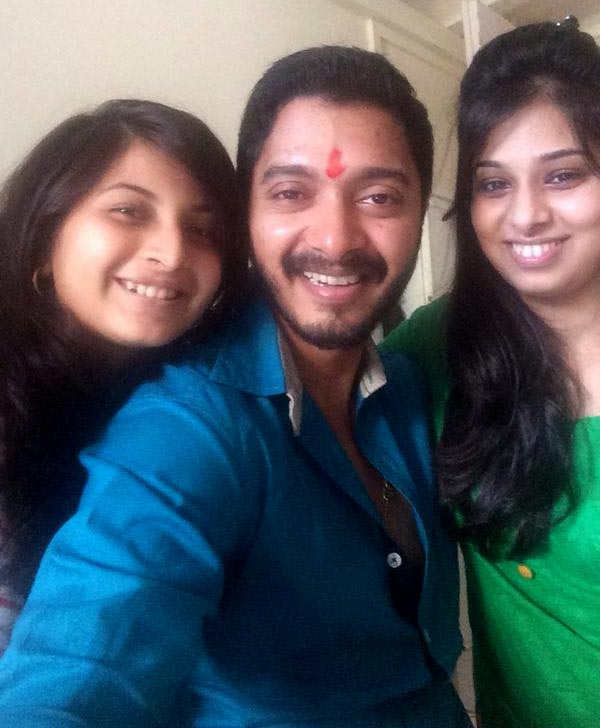 Shreyas Talpade with his sisters