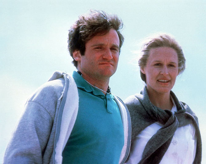 Robin Williams and Glenn Close in The World According To Garp
