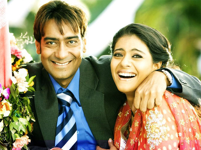 Kajol with Ajay Devgn in You Me Aur Hum