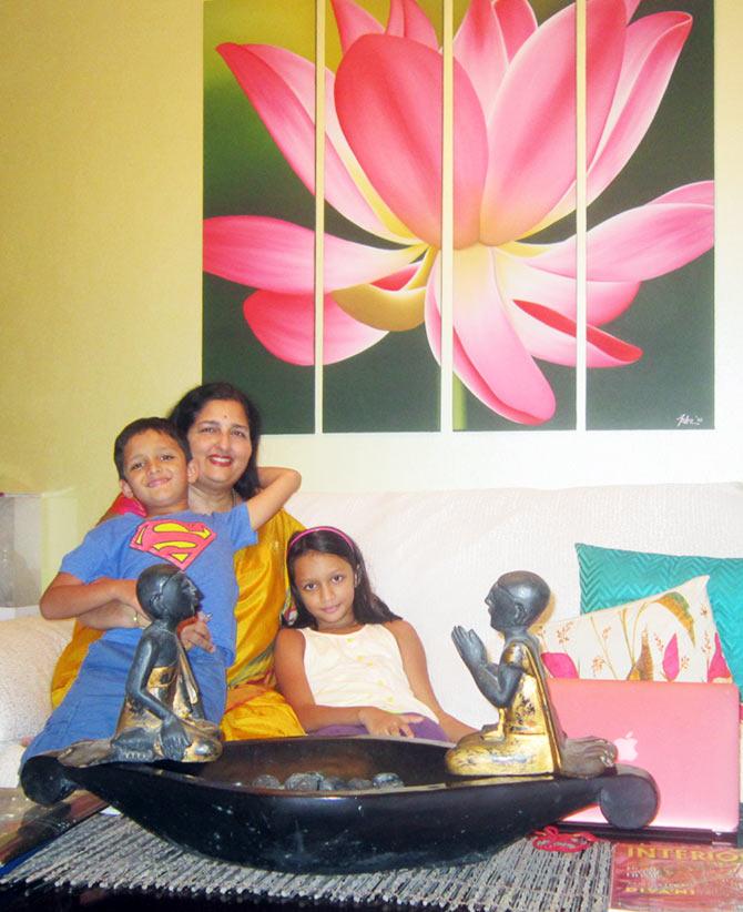 Anuradha Paudwal in her Khar home