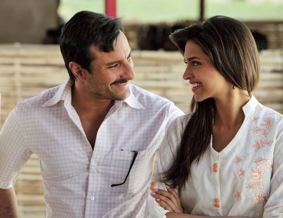 Saif Ali Khan and Deepika Padukone in Aarakshan