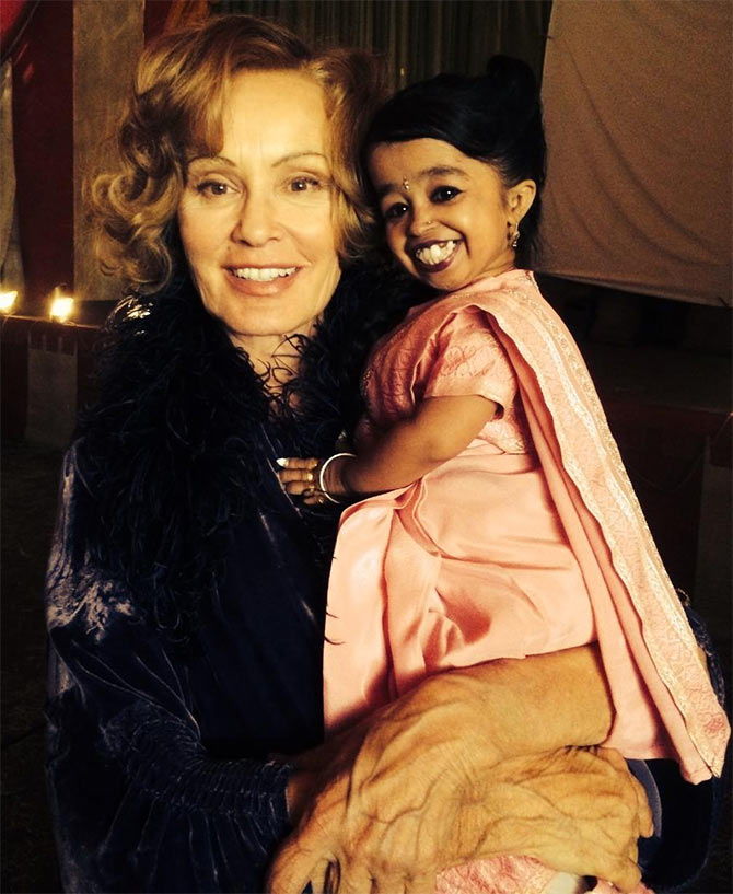 Jyoti Amge and jessica lange