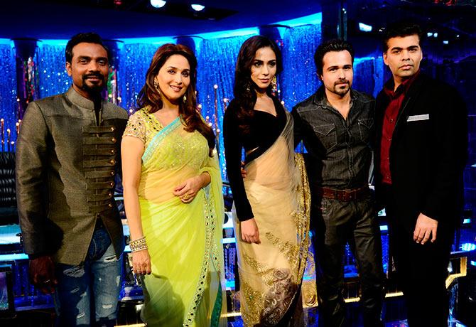 Remo D'Souza, Madhuri Dixit, Humaima Malick, Emraan Hashmi, Karan Johar