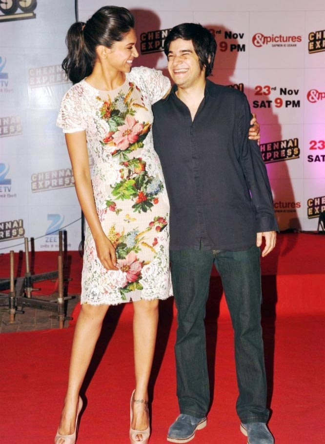 Vivaan Shah with Happy New Year costar Deepika Padukone