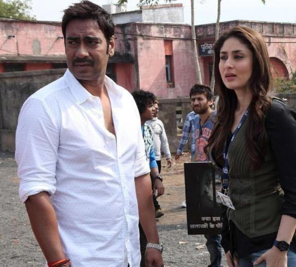 Ajay Devgn and Kareena Kapoor in Satyagraha