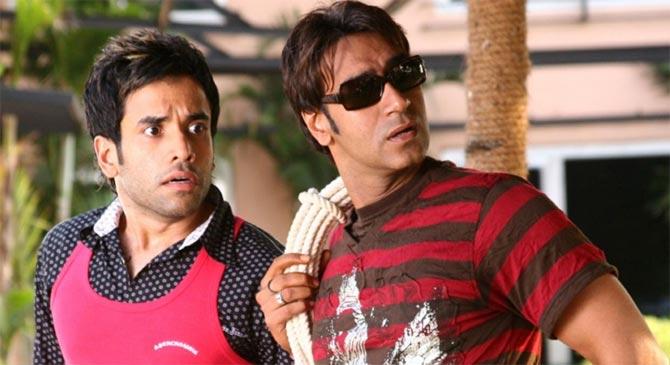 Tusshar Kapoor and Ajay Devgn in Golmaal Returns