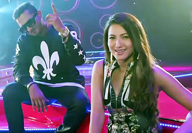 Honey Singh and Gauhar Khan in India's Raw Star