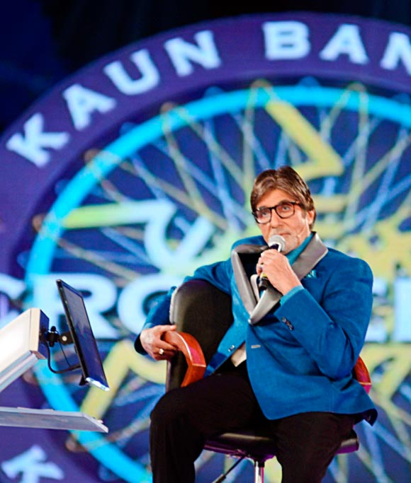 Amitabh Bachchan in Surat at the premiere of Kaun Banega Maha Crorepati