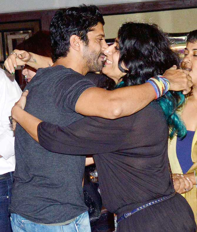 Farhan Akhtar and Niharika Khan