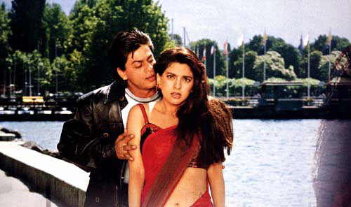 Shah Rukh Khan and Juhi Chawla in Duplicate