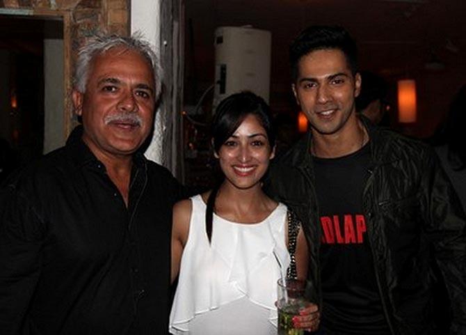 Anil Mehta, Yami Gautam and Varun Dhawan
