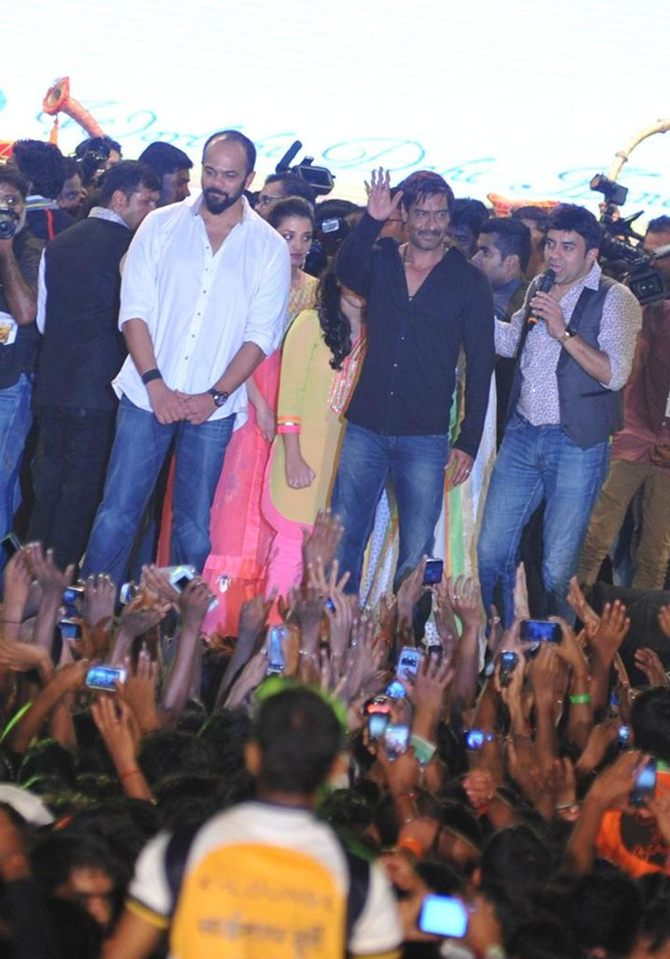 Rohit Shetty and Ajay Devgn