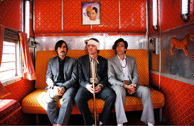 Jason Schwartzman, Owen Wilson, Adrien Brody in The Darjeeling Limited.