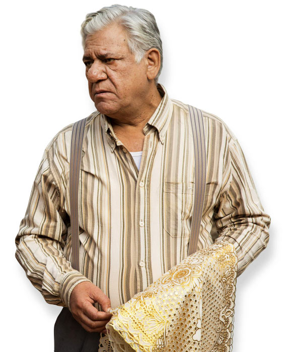Om Puri in The Hundred-Foot Journey.