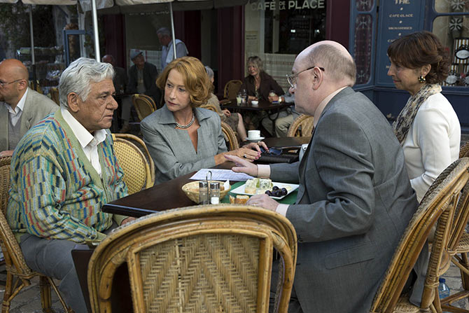 Om Puri, Helen Mirren, Michel Blanc, Shuna Lemoine in The Hundred-Foot Journey.