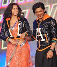 Deepika Padukone and Shah Rukh Khan
