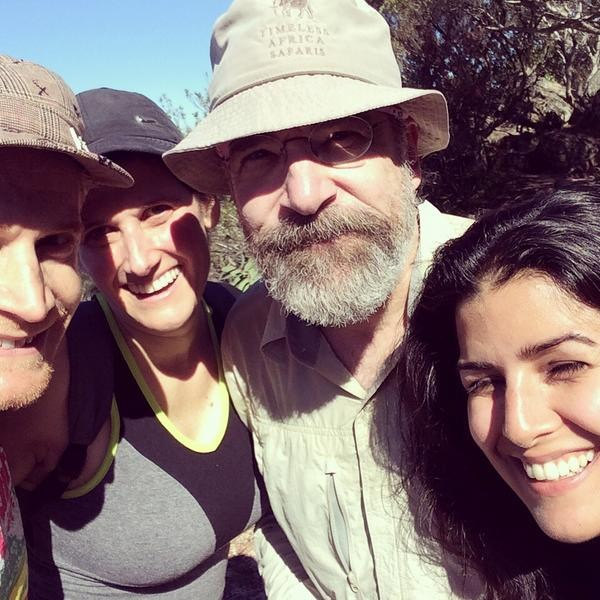 Nimrat Kaur with Homeland costar Mandy Patinkin (second from right) and crew members