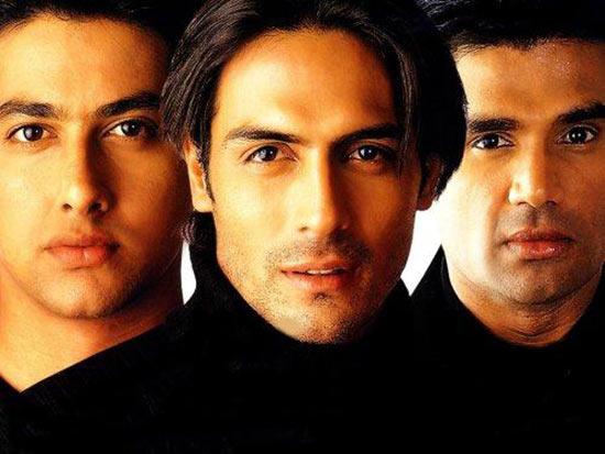 Aftab Shivdasani, Arjun Rampal and Sunil Shetty in Pyaar Ishq aur Mohabbat