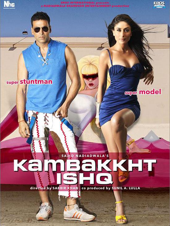 Moive poster of Kambakkht Ishq