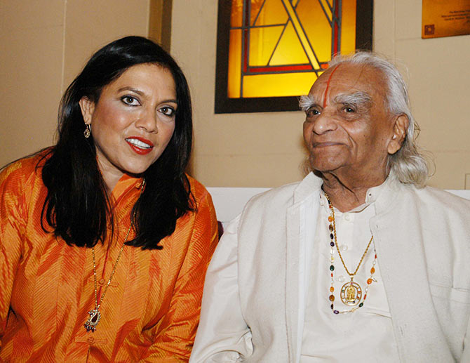Mira Nair and B K S Iyengar