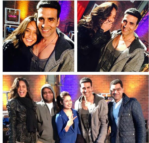 Lisa Haydon and Akshay Kumar