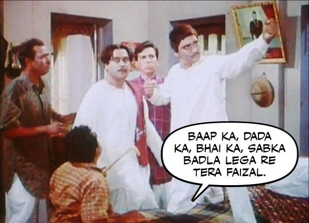 Keshto Mukherjee, Kishore Kumar, Raj Kishore, Sunil Dutt and Mukri in Padosan