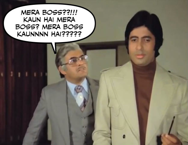 Sanjeev Kumar and Amitabh Bachchan in Trishul