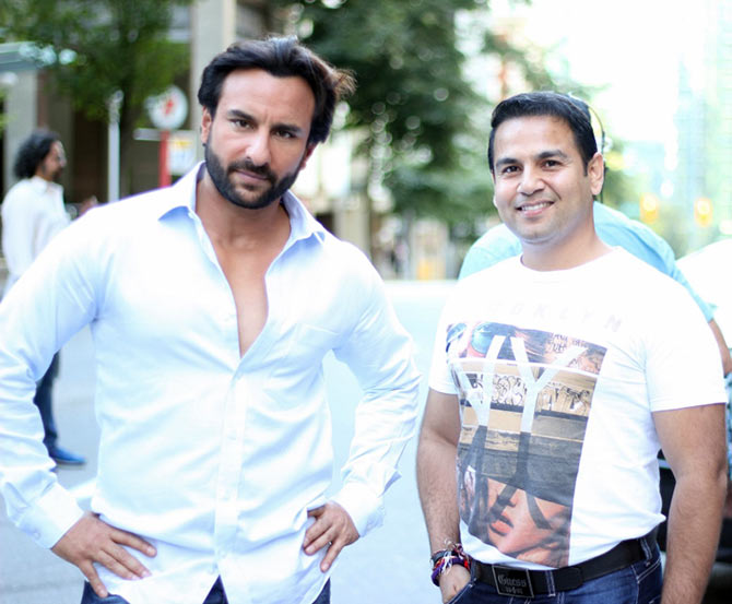 Saif Ali Khan with reader Mandeep