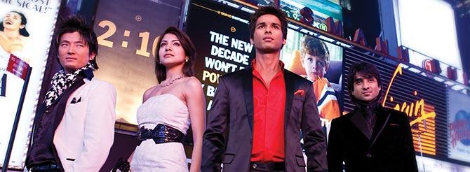 Meiyang Chang, Anushka Sharma, Shahid Kapoor in Badmaash Company