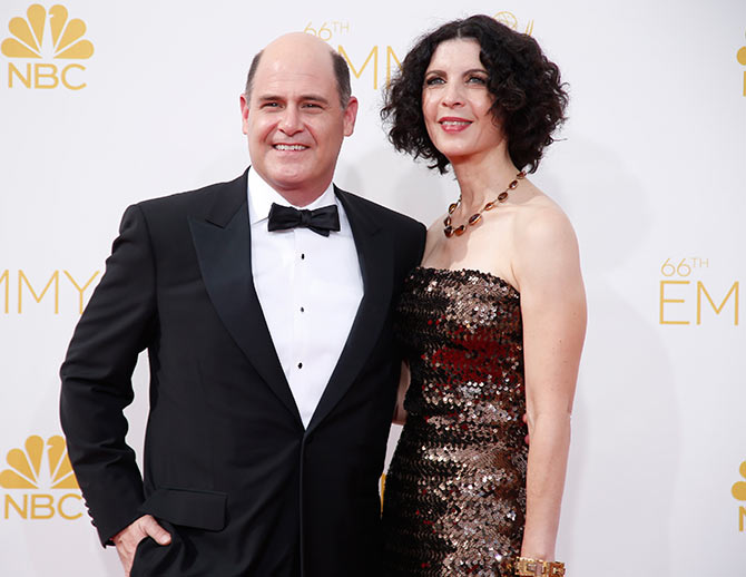 Matthew Weiner with wife Linda Brettler