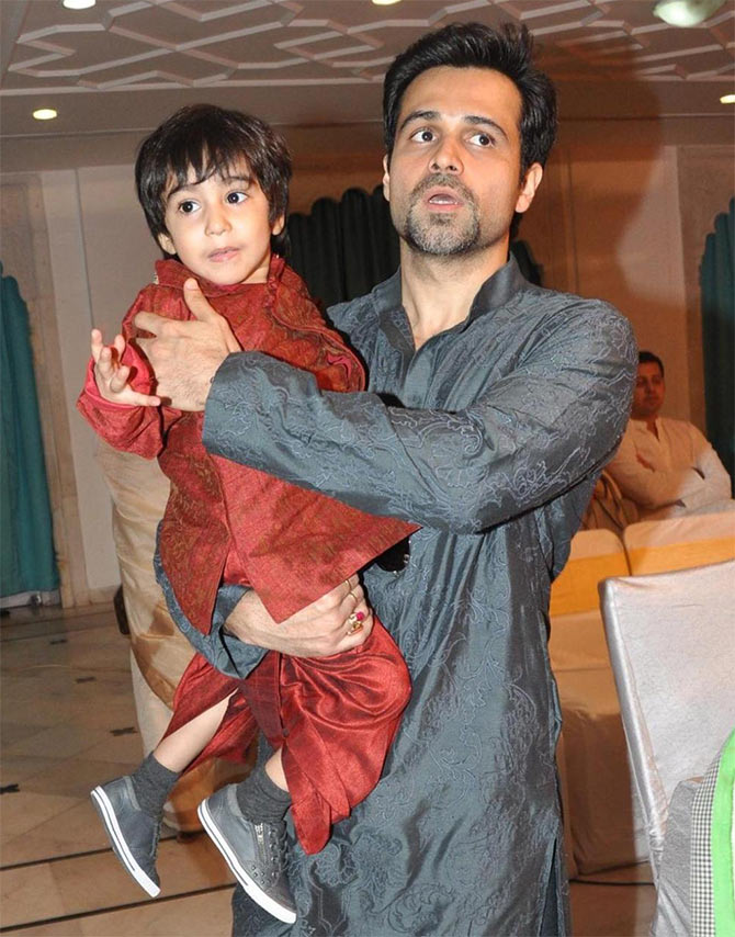 Emraan Hashmi with his son Ayaan