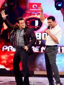 Salman Khan and Akshay Kumar on Bigg Boss 7