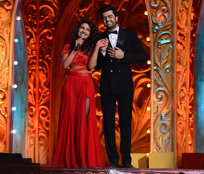 Priyanka Chopra with Manish Paul