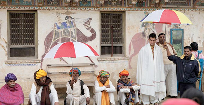 Aamir Khan on the sets of PK