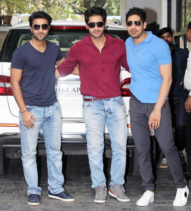 Adaar and Armaan Jain with Ayan Mukherji
