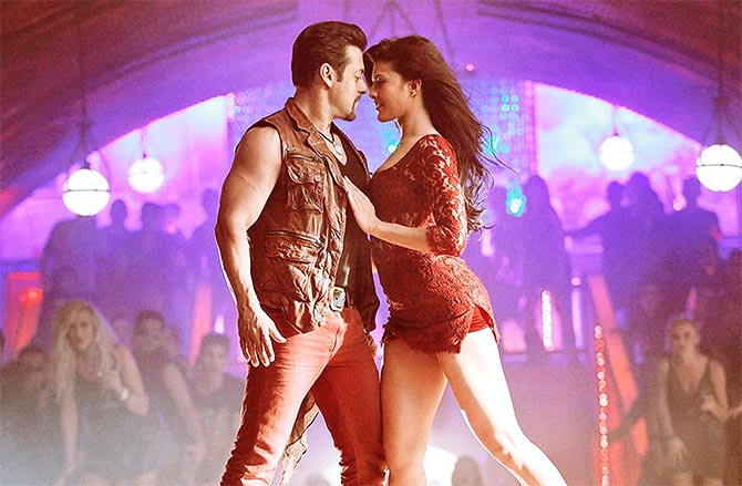 Salman Khan and Jacqueline Fernandez in Kick