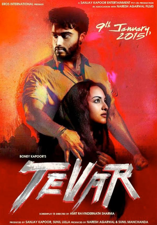 Arjun Kapoor and Sonakshi Sinha in the Tevar poster