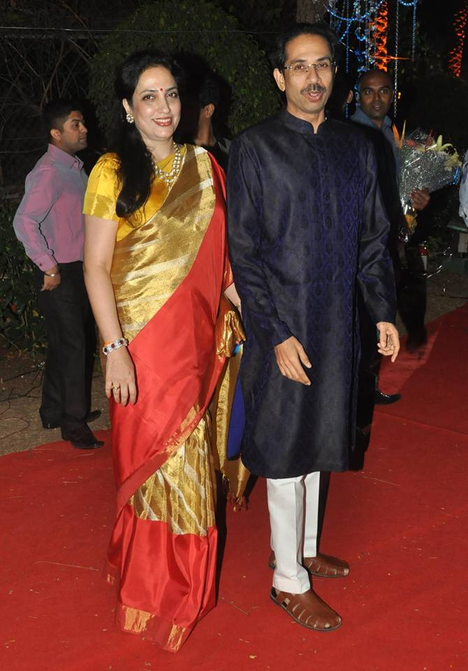 Rashmi and Uddhav Thackeray
